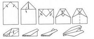 Самолетик из бумаги схема