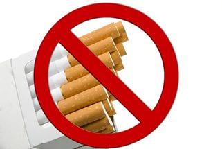 Сигаретная пачка со знаком запрета