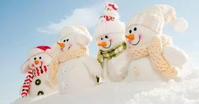 Снеговики в шапках