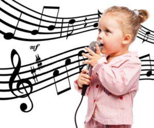 Девочка и ноты