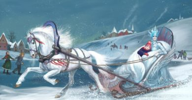 Снежная королева в санях