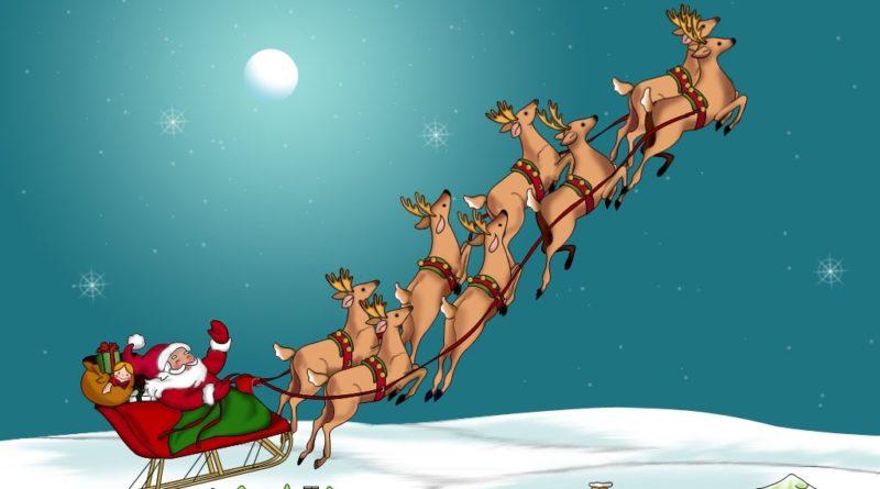 Дед мороз в санях картинка