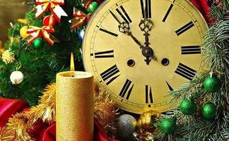 Новогодние часы картинка