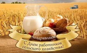 работников сельского хозяйства с праздником