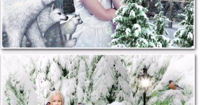 Зима psd для фото