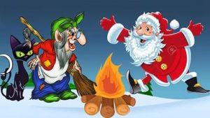 Дед Мороз и баба яга