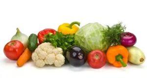Овощи белый фон