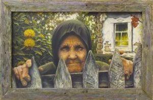 Бабушка у калитки