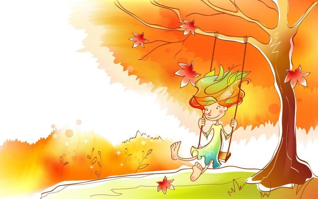 Прикольные рисунки на тему осень