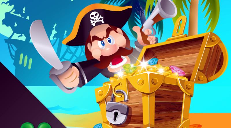 Пират и сундук рисунок