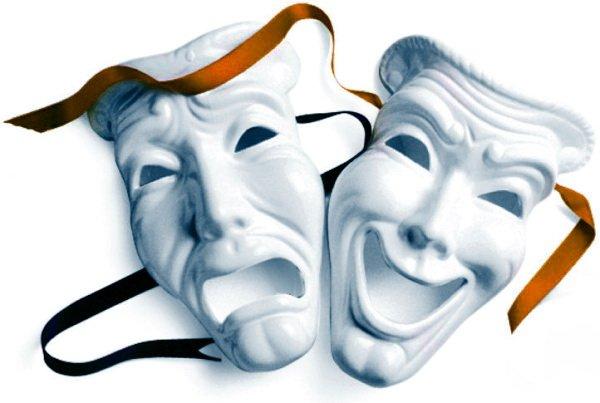 маски драмма и коммедия