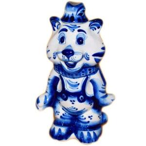 голубой тигр гжель 2022