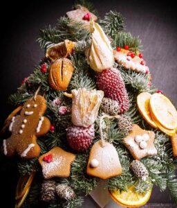 украсить елку фруктами