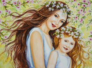 день матери рисунок