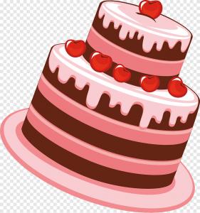 Торт с вишней png
